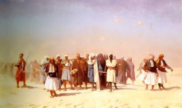 Egyptian Recruits crossing the Desert